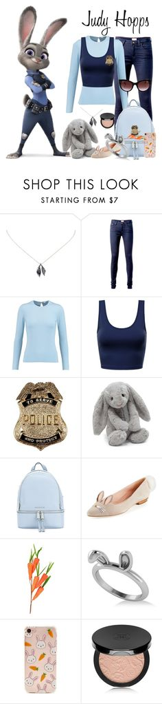 """Judy Hopps"" by weareinhumans ❤ liked on Polyvore featuring Tiffany & Co., Tommy Hilfiger, Oscar de la Renta, Jellycat, MICHAEL Michael Kors, Kate Spade, Allurez, Forever 21, Rouge Bunny Rouge and Thierry Lasry"