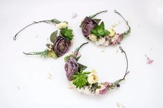 Succulent Hair Piece Woodland Wedding Crown Flower Halo | Etsy Flower Crown Wedding, Bridal Hair Flowers, Wedding Flowers, Flower Crowns, Crown Flower, Floral Wedding, Flower Headpiece, Woodland Wedding, Floral Crown