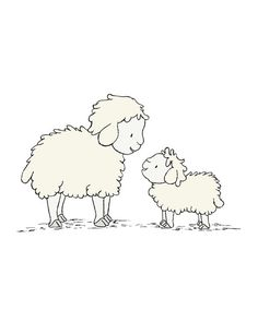 Lamb Nursery Art   *Be sure to select your size in the drop down box above.  Here at Sweet Melody Designs we love creating cute art for your little tots rooms. We believe in encouraging the imagination of children and giving them a beautiful place to grow up. It is our hope that our art can have a small part in that wonderful experience.  This is a print of an original piece of art created by me. It is a giclee print printed on archival paper with archival pigment inks that are rated to…