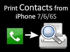 Free Way to Print Contacts from iPhone  iPhone 7/6/6S/6S Plus/5S
