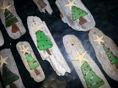2013 sea glass family gift Christmas ornaments, jute or ribbon?? Hmmm