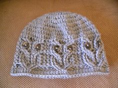 Adorable Crochet Cabled Owl Hat (Comes in 3 sizes)