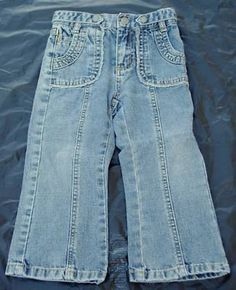 Girls Carters Sz 2 T Jeans 17 W x 13 L - $12.95