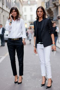Parisian Editor chic at Milan Fashion Week