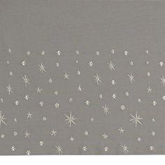 Deep Space Crib Skirt    The Land of Nod. Mural or garland shape inspiration: polka dots, asterisks, stars, and atomic bursts.