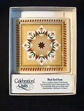 Celebration of American Quilts Ceramic Tile Ornament ~ BLACK EYED SUSAN ~ MIB