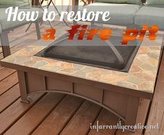 Fire Pit Repair... And it is the EXACT one that we have! Perfect!