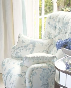 Laura Ashley Spring/Summer Summer Palace Collection - beading around cushion Laura Ashley, White Cottage, Cottage Style, Shabby Chic, Cozy Corner, Take A Seat, White Houses, White Decor, Decoration