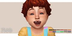Lana CC Finds - wolfgang-munch: toddler double feature!! by... Hair Kids, Toddler Hair, Sims 4 Mm, My Sims, Sims 4 Kitchen, Sims 4 Cc Kids Clothing, Sims 4 Toddler, Ts4 Cc, Cas