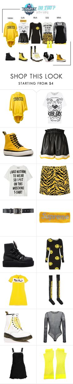 """ARIA (아리아) 'Do You' M!Countdown (4TH WIN)"" by ariaofficial ❤ liked on Polyvore featuring Moschino, Kenzo, Dr. Martens, Fendi, Moschino Cheap & Chic, Belstaff, Puma, Vetements, Faith Connexion and Boohoo"