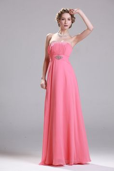 Chic Sweetheart Appliques Tiered Chiffon Floor Length 2015 Evening Dresses