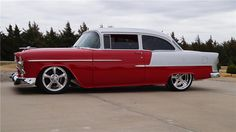 1955 CHEVROLET 210 CUSTOM 2 DOOR SEDAN - Side Profile - 161048