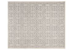 Jay Rug, Silver/Ivory | One Kings Lane