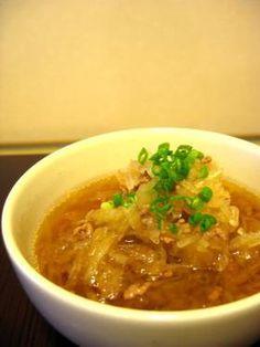 """daikon in stock 100年続いた味 """"つき大根""""~ひいおばあちゃんのレシピ~ (daikon, beef, scallion)"""