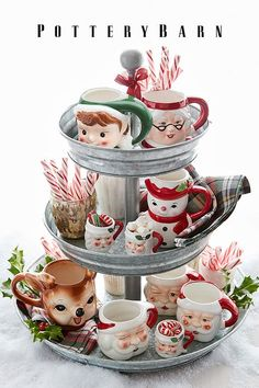 Shop Pottery Barn for serveware perfect for a holiday feast or a weeknight dinner. Pottery Barn Christmas, Christmas Kitchen, Christmas Mugs, Retro Christmas, Christmas Love, Country Christmas, Winter Christmas, Christmas Crafts, Christmas Decorations