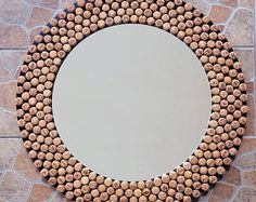 Items similar to Pour - Red Wine Cork Wall Art on Etsy Wine Cork Art, Wine Cork Crafts, Wine Bottle Crafts, Wine Corks, Cork Wall, Cork Frame, Diy Cork, Diy Mirror, Wall Mirror