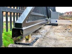 ΗOW ΤO MΑKΕ THΕ GΑTΕ IΝ 5 ΗOURS - YouTube Fence Gate Design, Front Gate Design, Steel Gate Design, House Gate Design, Sliding Fence Gate, Front Gates, Entrance Gates, Steel Doors And Windows, Gates And Railings