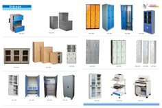 Powder Coated Industrial Lockers, Powder Coated Vertical Filing Cabinets, Powder Coated Office Almirah, Powder Coated Printers Stand  by Asian Chair Craft