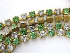 Hey, I found this really awesome Etsy listing at https://www.etsy.com/listing/83399582/vintage-rhinestone-chain-peridot-crystal