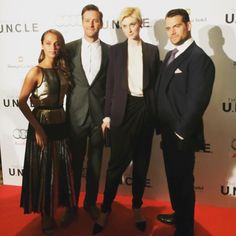 The cast from The Man From UNCLE at the Shangril-la Toronto. #AliciaVikander #ArmieHammer #ElizabethDebicki #HenryCavill @themanfromuncle