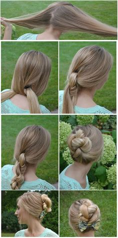knoted updo with bow