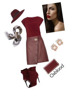 """""""Oxblood"""" by deborah-strozier ❤ liked on Polyvore featuring Valentino, Burberry, Dorothy Perkins, Reiss, Miss Selfridge, Anabela Chan and Tory Burch"""