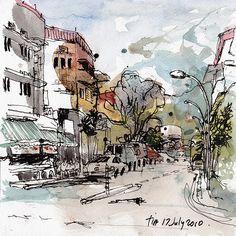 urban sketchers . tia boon sim