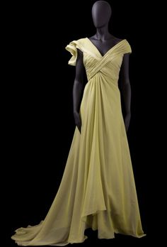 A-line Off-The-Shoulder Ruched Bodice Ruffle Detail Chiffon Evening Dress-soe0064, $174.95