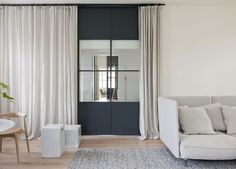 Curtains and Steel Frame Doors Designed by Hecker Guthrie | Est Living Design Directory