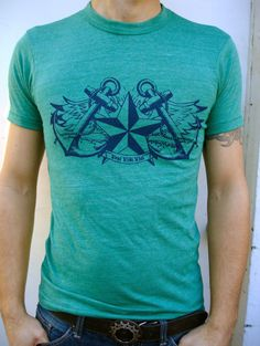 Is your dad a conqueror? If so, get him a tee that says so! Latin phrase Veni Vidi Vici, or I came, I saw, I conquered with Nautical Star, Anchor, and Wings. Organic Cotton TShirt by RevivalInk, $33.00