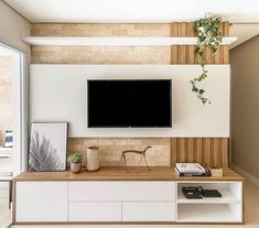 Decoration Suggestions for Small Living Rooms Small Living Rooms, Home Living Room, Living Room Decor, Living Room Ideas Tv Wall, Tv Room Small, Tv Wall Design, House Design, Tv Unit Decor, Living Room Tv Unit Designs