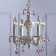 This would be cute in a kids bathroom... Chandelier