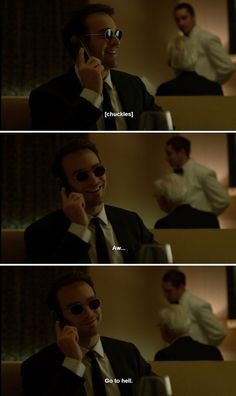 "Matt: Aw... go to hell. #Marvel #Daredevil #netflix 2x05 ""Kinbaku"""