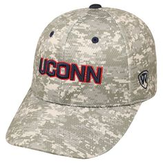 Adult Top of the World UConn Huskies Digital Camo One-Fit Cap, Men's, Grey Other