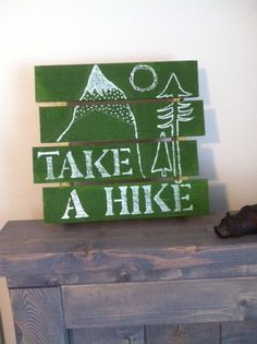 Hiking Sign by HappyLittleCampers on Etsy