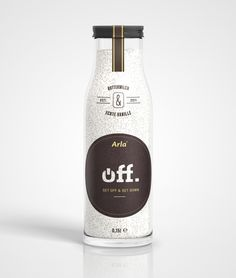 "Designed by Julian Hrankov | Country: Germany  ""Off. was developed as a concept buttermilk drink (with real vanilla) for Arla Foods."