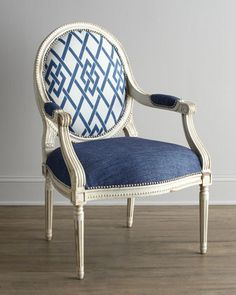"""Cobalt Trula"" Chair by Massoud at Horchow."