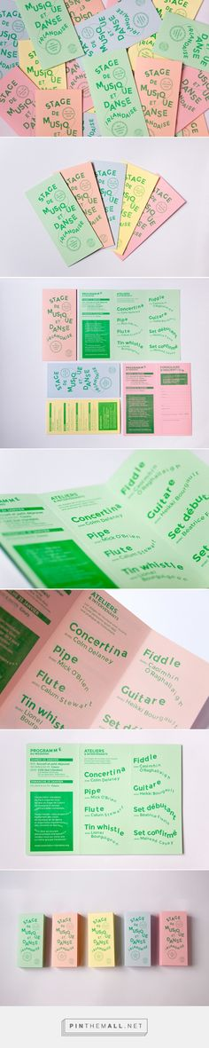 La Mouche et La Cloche's charming and musical identity for Association Irlandaise Poster Layout, Print Layout, Book Layout, Web Design, Book Design, Layout Design, Graphic Design Typography, Graphic Design Illustration, Branding Design