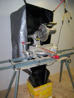 Sliding Compound Miter Saw cover with optional flap for use in dust collection