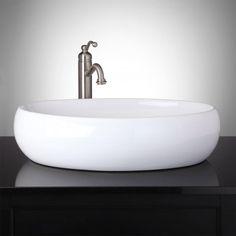 Peltier Oval Vessel Sink #bathroomvantiesandbasins