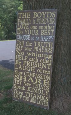 Family Rules - i love the sentence: Choose to be happy