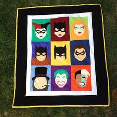 Batman Quilt - DIY - Quilt Blocks - PDF
