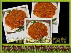 La cocina de Maetiare: Tiras de pollo con hortalizas en salsa