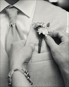 Beautiful Wedding Photography #boutonniere #wedding #groom