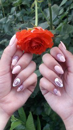 Korean Nail Art, Korean Nails, Cute Nails, Pretty Nails, Army Nails, Les Nails, Work Nails, Girls Nails, Colorful Nail Designs