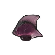 Discover the Lalique Fish Figure - Purple at Amara
