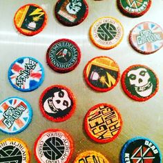 Punk Rock Custom Fondant Edible Cupcake Toppers by Sugarbox Sundries on Gourmly