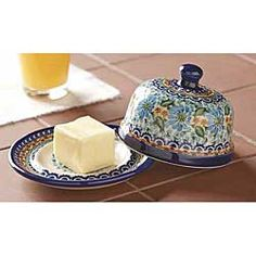 This is my favorite piece of Polish Pottery Butter Dish that Isabella carries right now. It's just so charming!