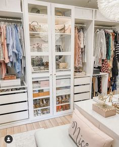 Bedroom Closet Design, Room Ideas Bedroom, Closet Designs, Bedroom Decor, Inspiration Dressing, Closet Renovation, Wardrobe Room, Ikea Closet, Dressing Room Design