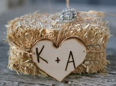 Small Country Wedding Ideas | This small haystack is such a great idea for a country style or ...
